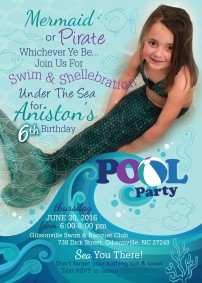 Anistons 6th bday invite