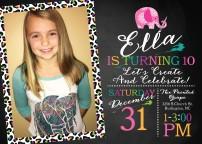 Ella 10th Bday Invite