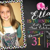 Ella 10th Bday Invite