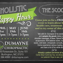 Dumayne Holistic Happy Hour Card