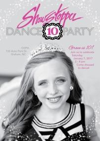 showstopper-10th-bday-invitation