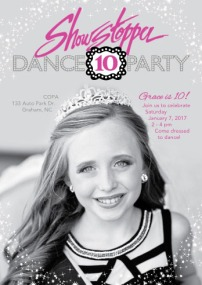 showstopper-10th-bday-invitation
